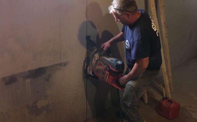 Cutting the New Basement Doorway